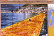 The Floating Piers Christo Lake d' Iseo Lambardia Italia from 18/06/2016 the 3/07/2016